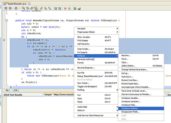 NetBeans Refactoring Tools