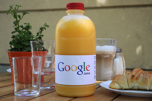 Google Juice - http://www.flickr.com/photos/johannes-p-osterhoff/4775162612/sizes/m/in/photostream/